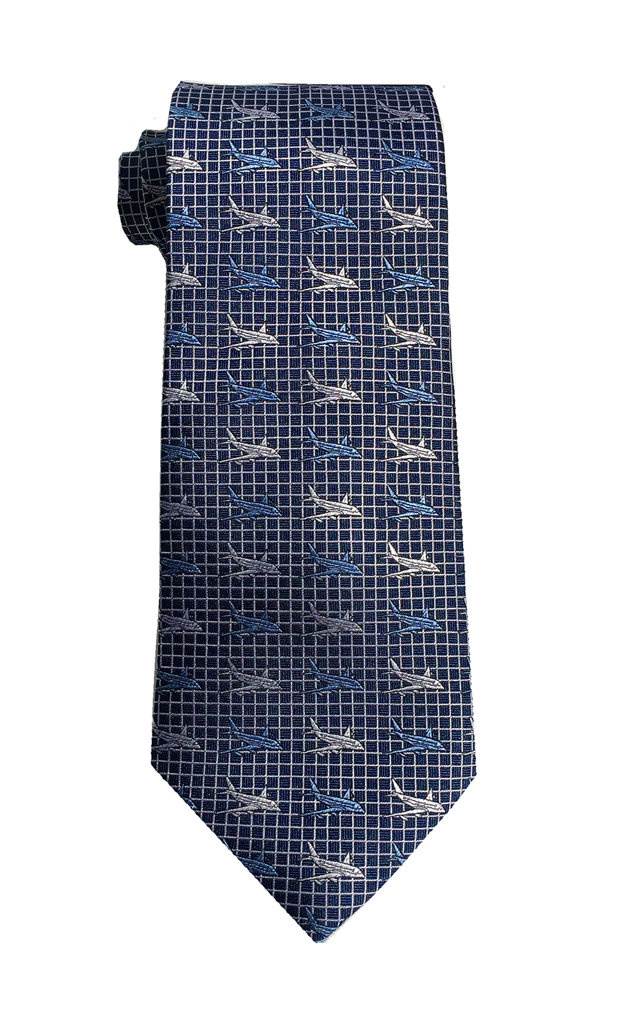 doppeldecker design designer aviation aircraft silk tie a380
