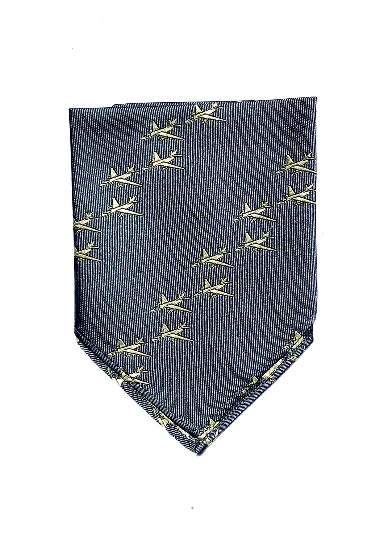 A-3 Sky Warrior pocket square in blue slate