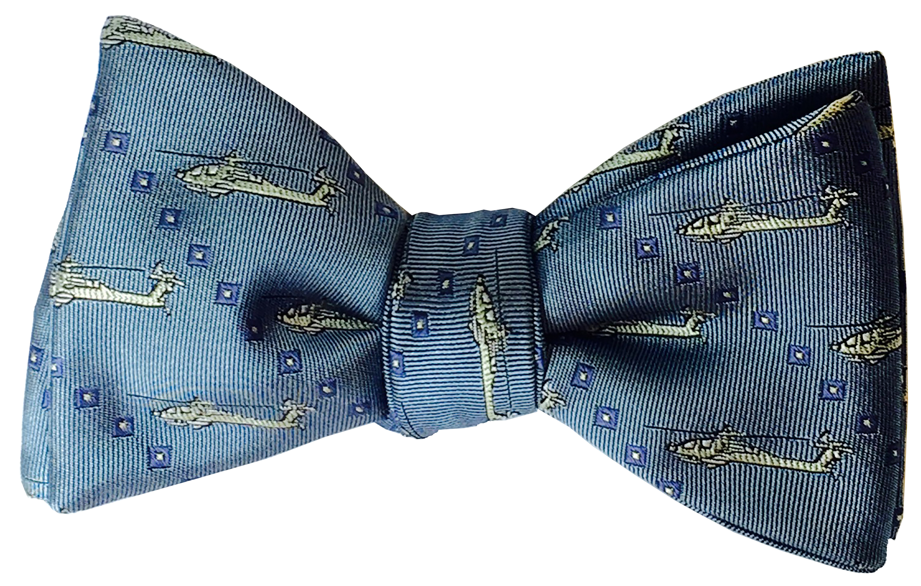 Apache Helicopter bow tie in light blue