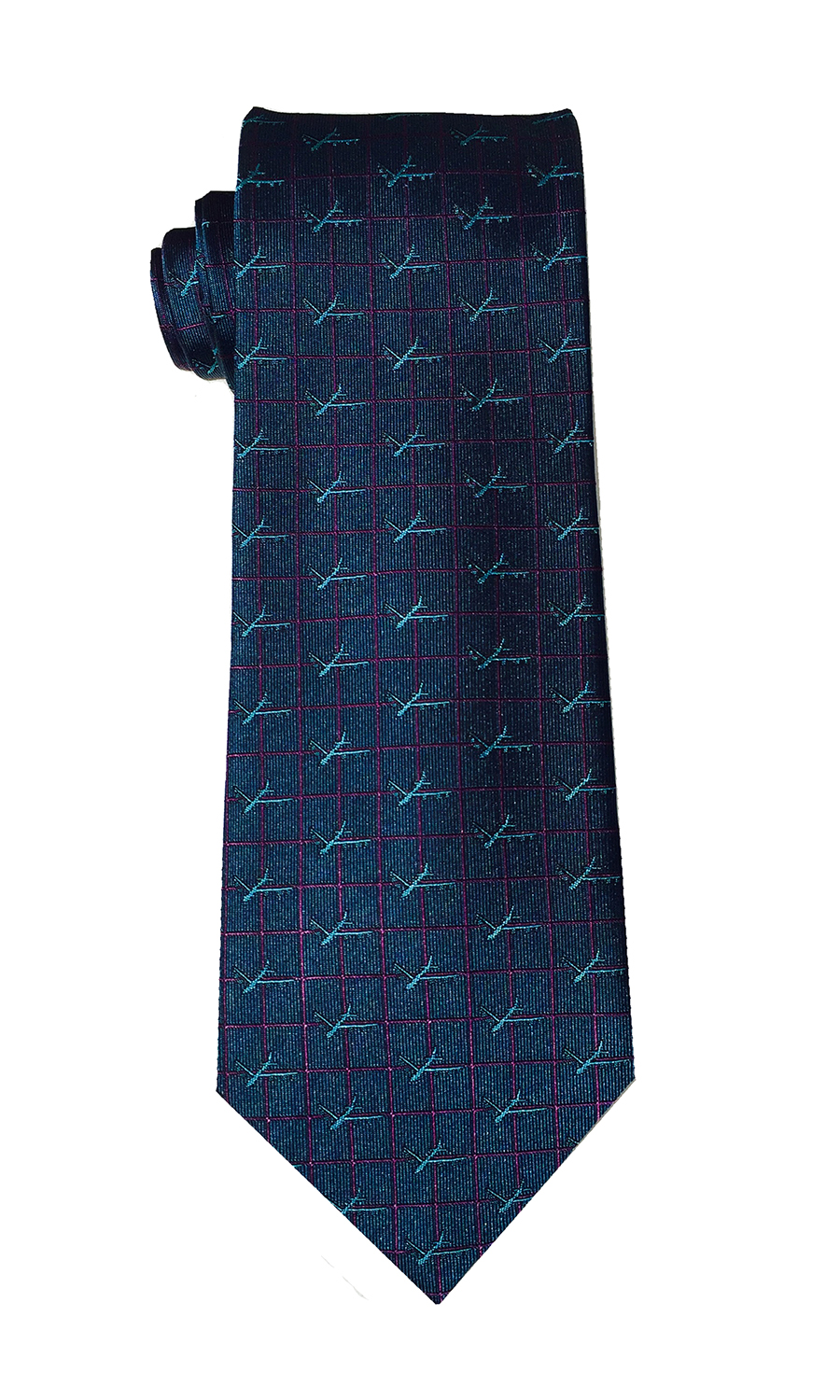 B-52 Stratofortress bomber tie in deep teal
