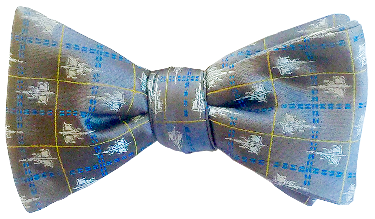 doppeldecker design designer aviation aircraft silk bow tie bowtie b58 b-58 hustler