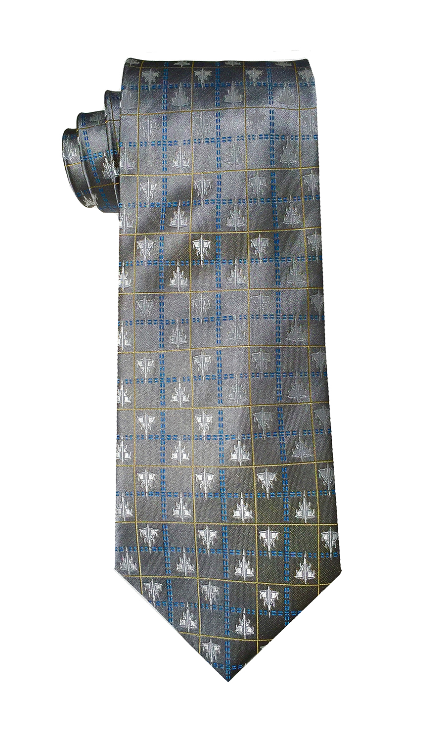 B-58 Hustler jet tie in grey
