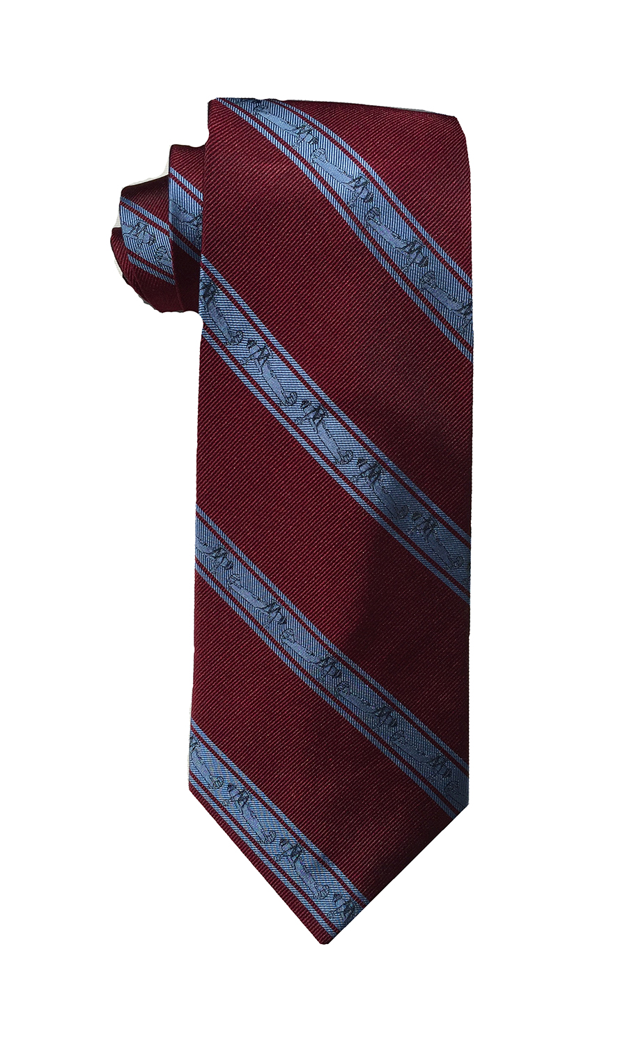 Curtiss Helldiver biplane tie in claret and sky blue