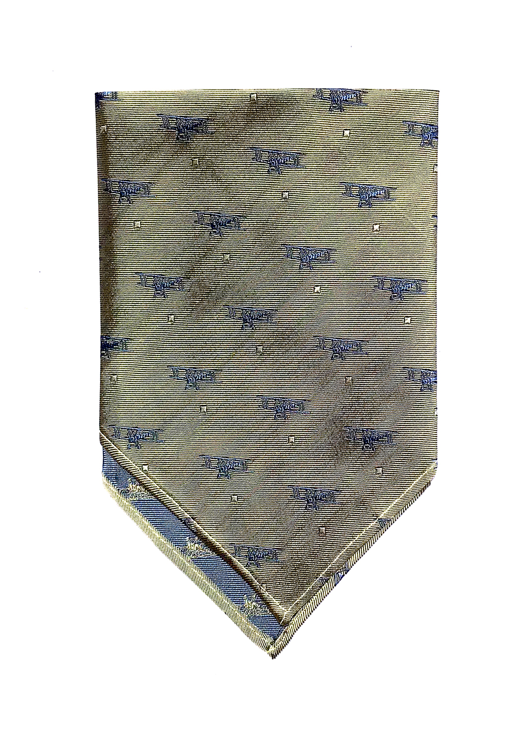 doppeldecker design aviation aircraft airplane pocket square biplane gold