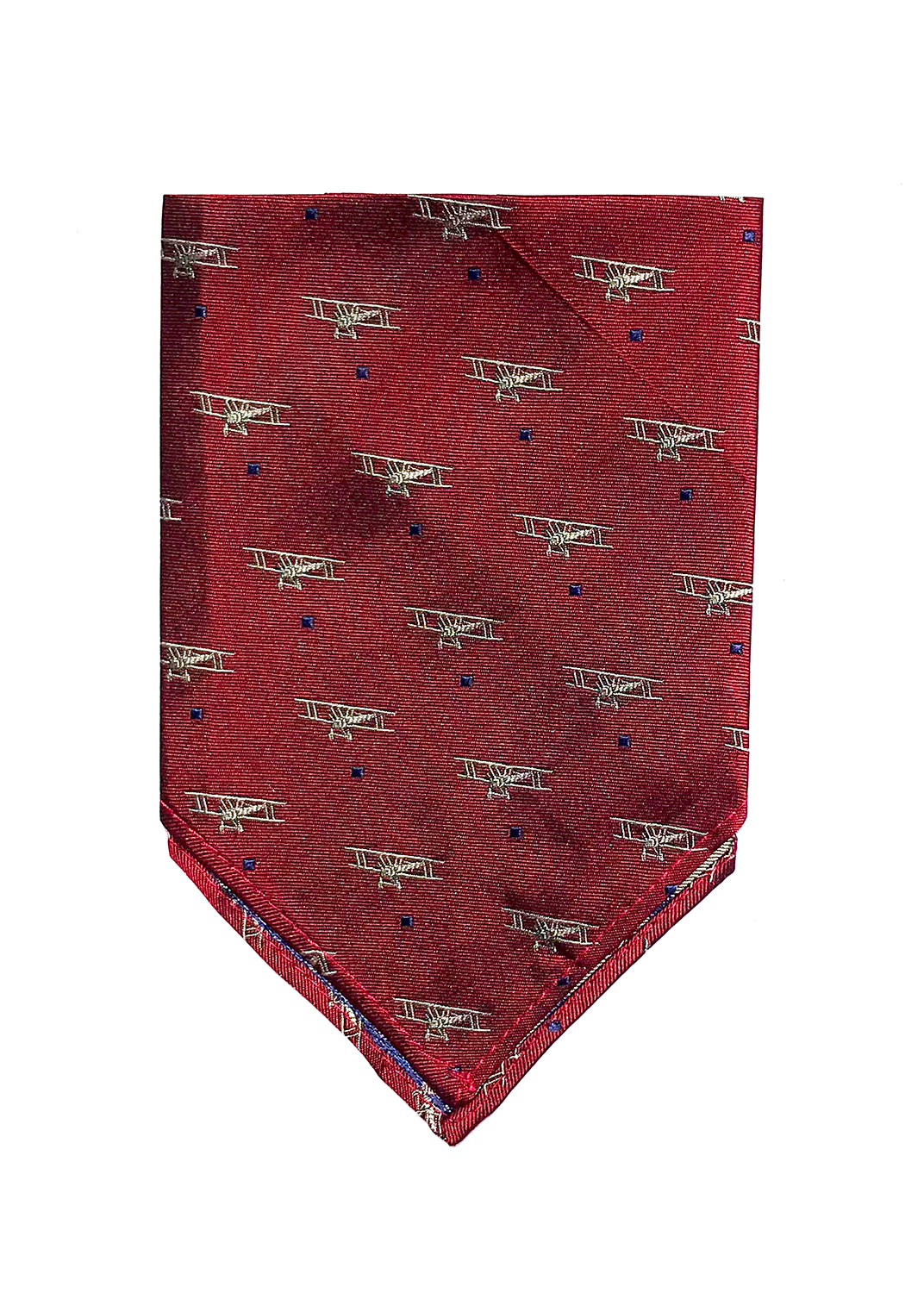 Biplane pocket square in ruby