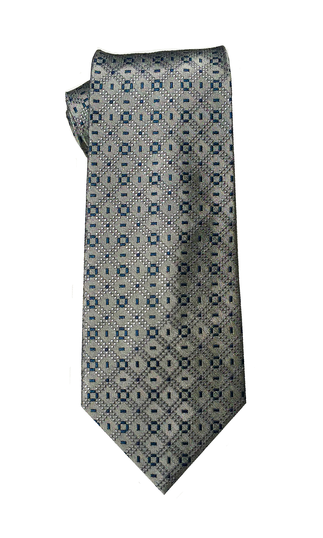 Delta Tango tie in light grey and navy
