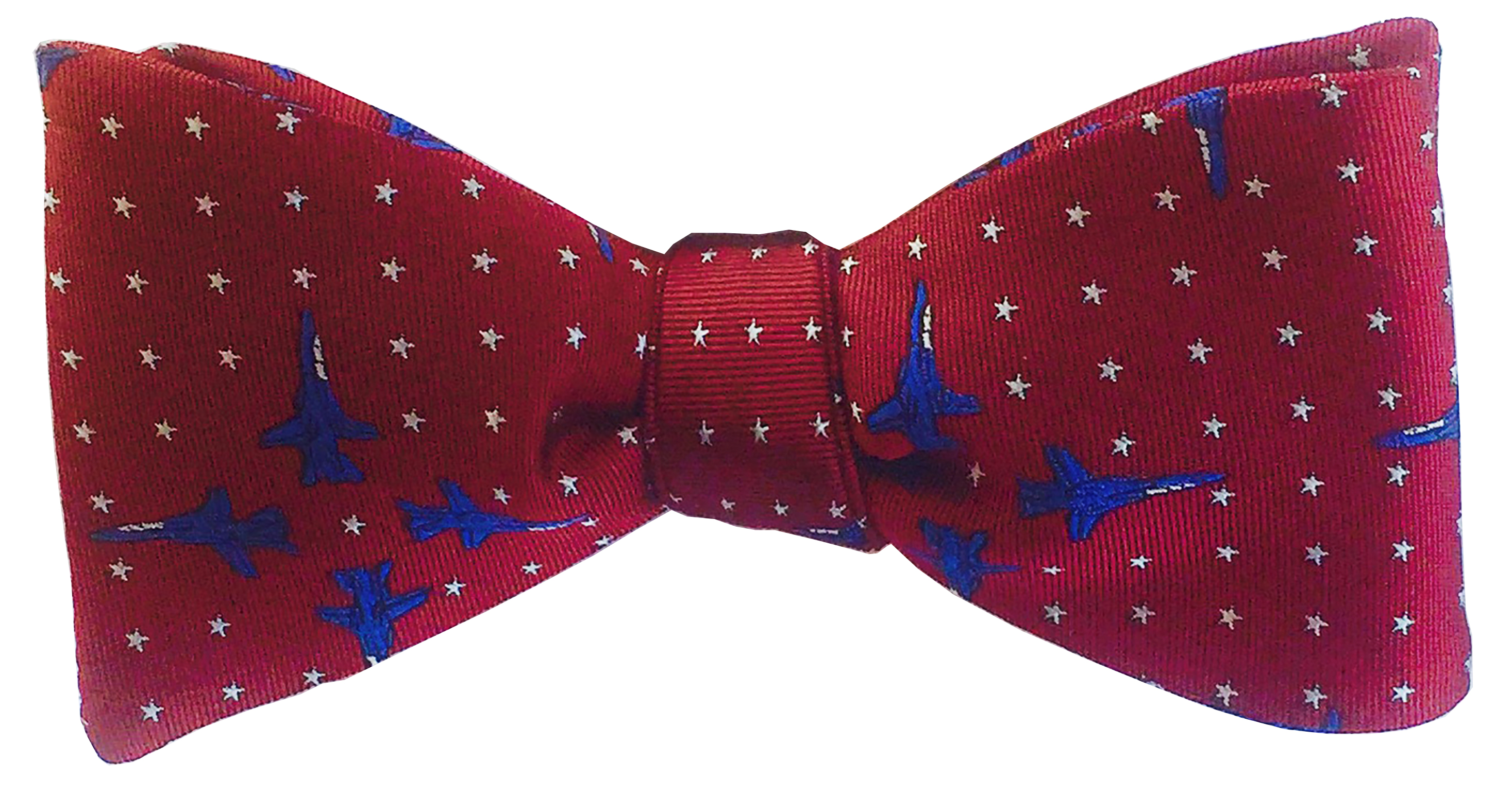 F-14 bow tie in deep red