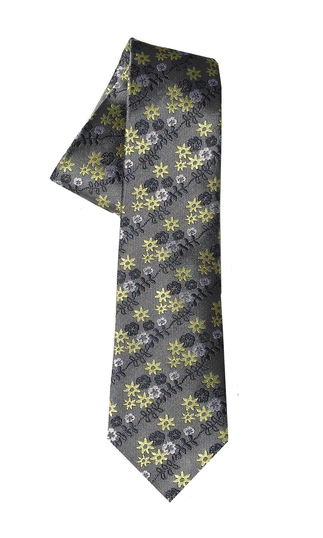 Foxtrot Charlie tie in steel grey and sun (slim)