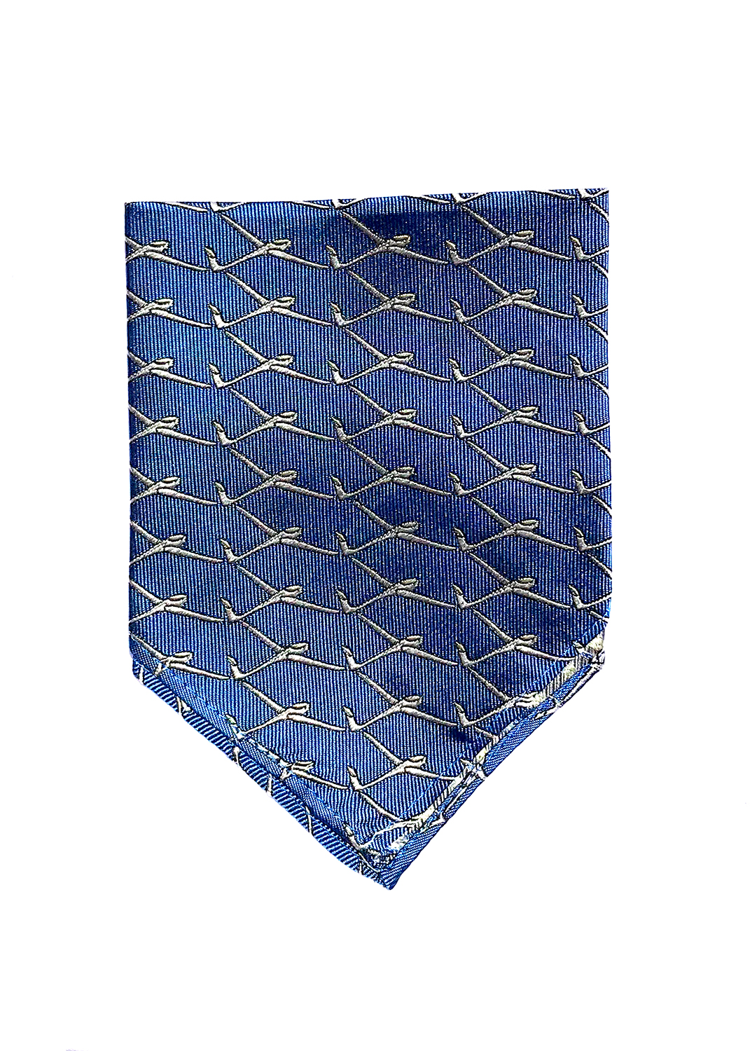 Glider pocket square in true blue