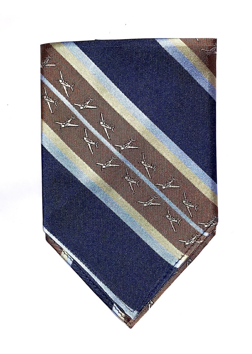 doppeldecker design aviation aircraft airplane pocket square mooney