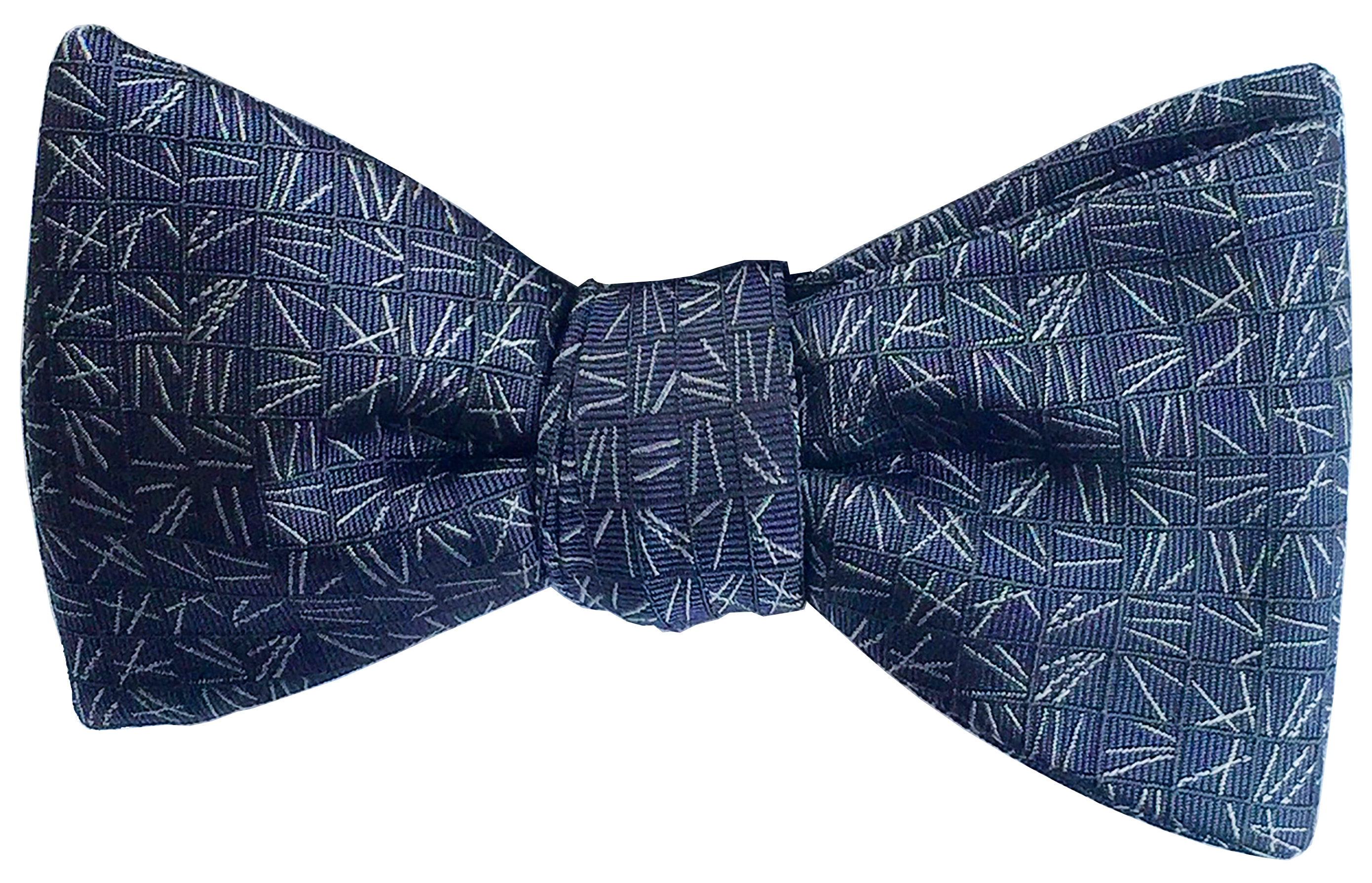 Scattering Pine bow tie in slate