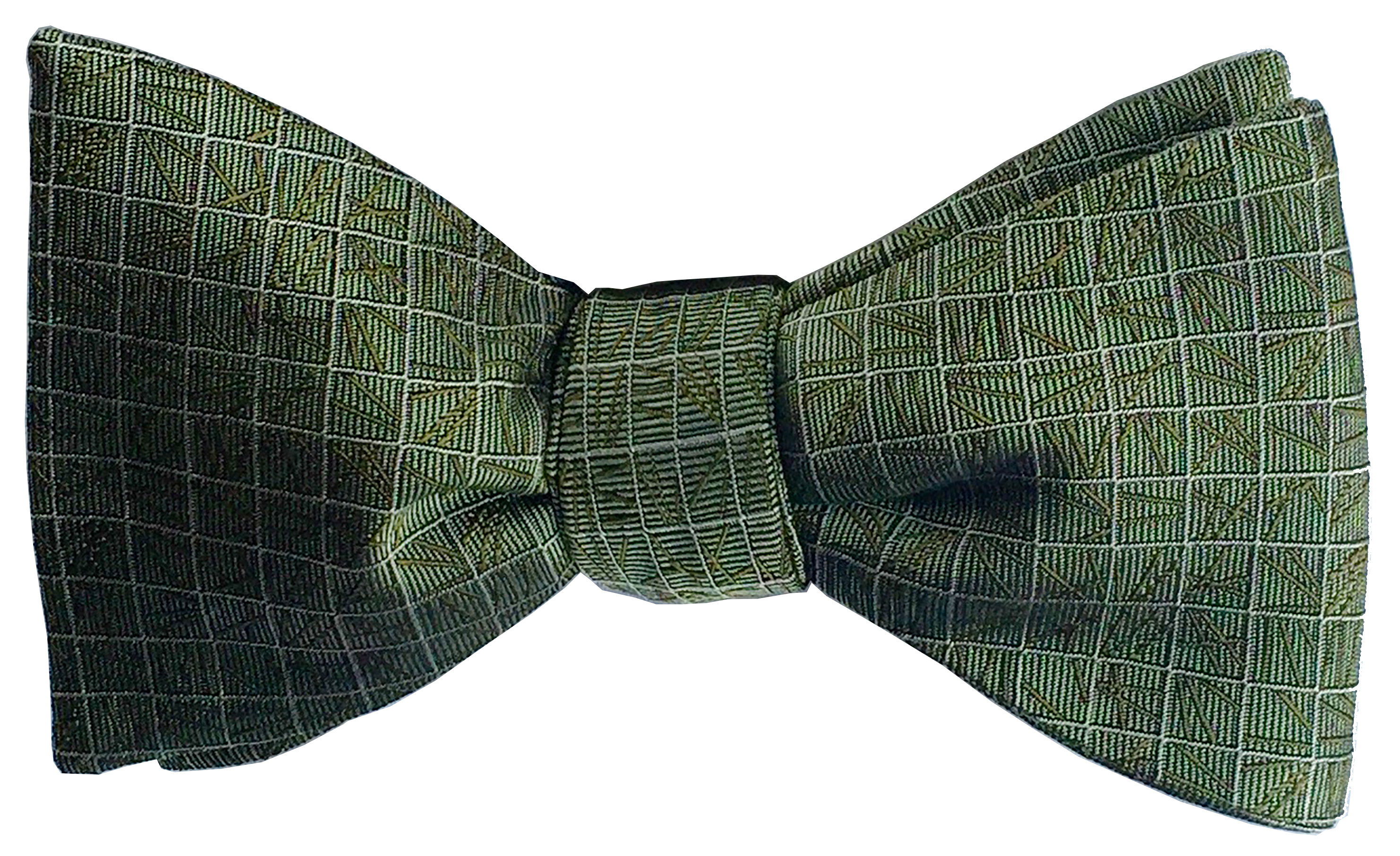 Scattering Pine bow tie in forest green