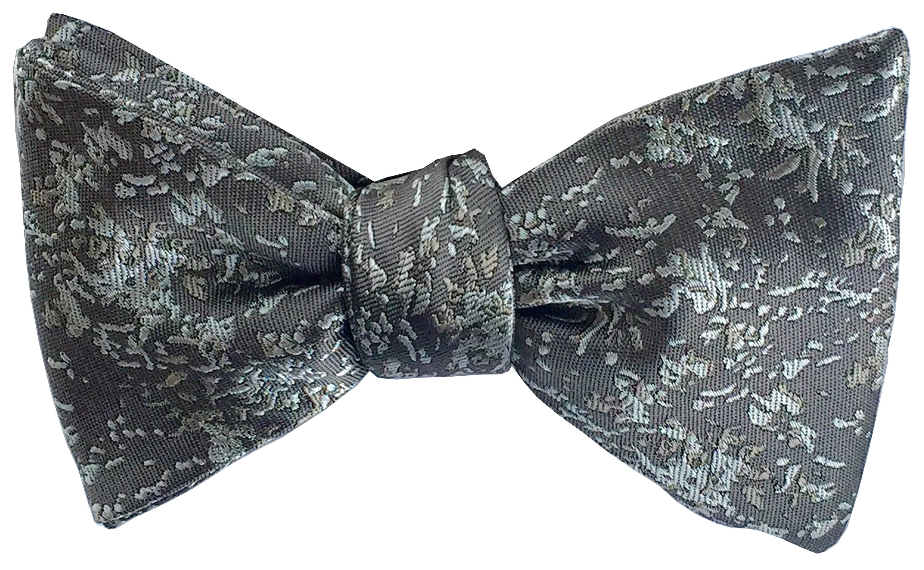 Arctic Drift bow tie in grey