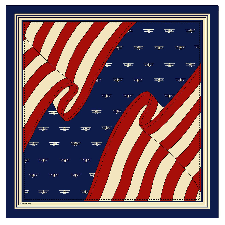 Silk scarf in Biplane Flag
