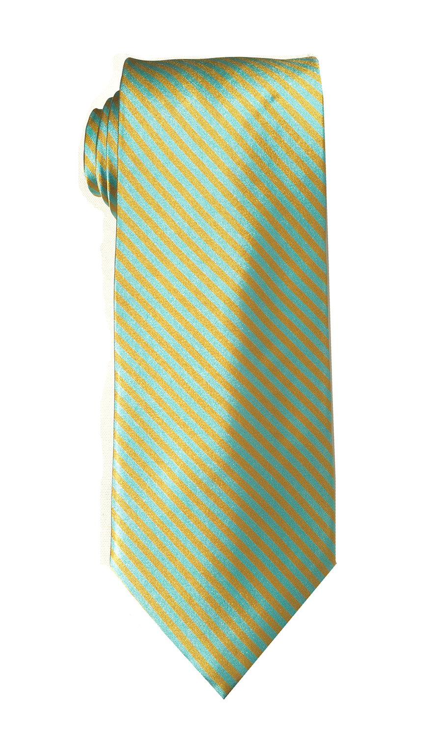Oscar Tango tie in mint and gold