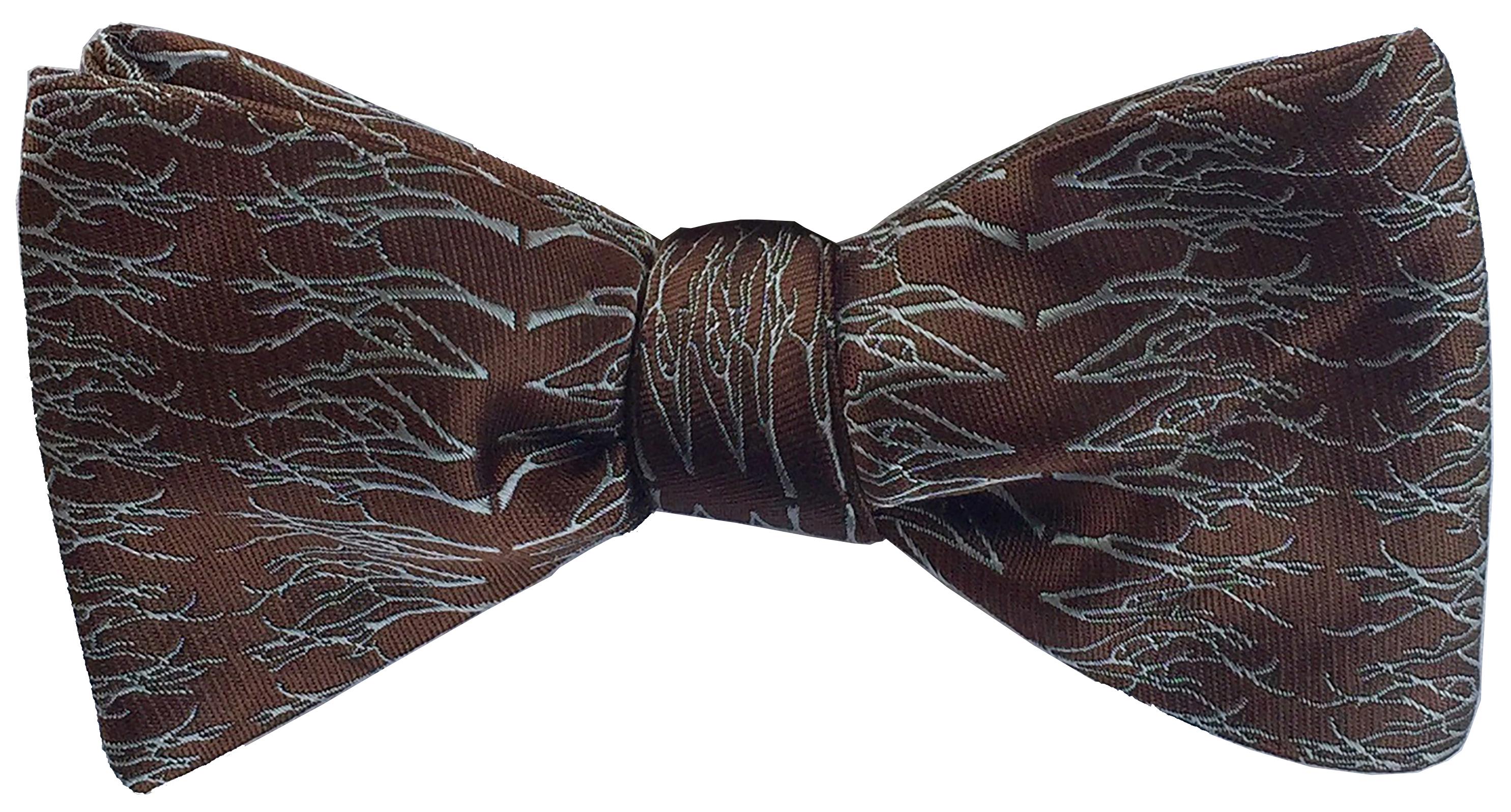 Winter Twig bow tie in espresso