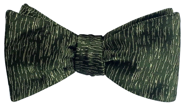 Atlantic Midnight bow tie in moss green