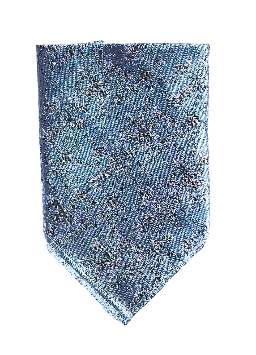Arctic Drift pocket square in arctic blue