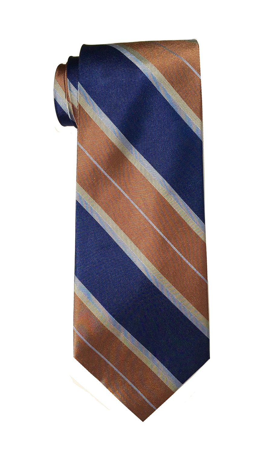 Oscar Lima tie in navy and rust