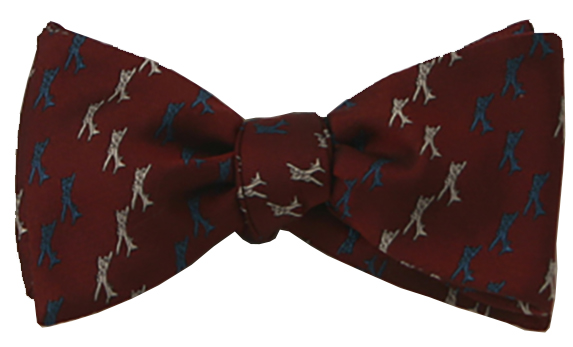 B-17 Flying Fortress airplane bow tie in claret