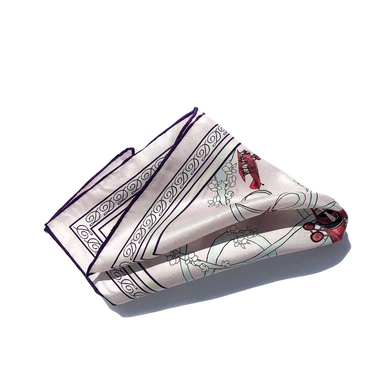 Acrobatic Biplane pocket square