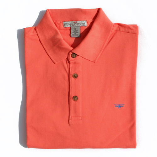 Biplane polo in camellis orange