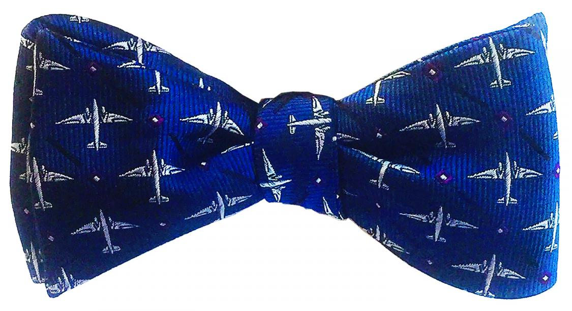 doppeldecker design designer aviation aircraft silk bow tie bowtie dc-3 dc3 c47 c-47