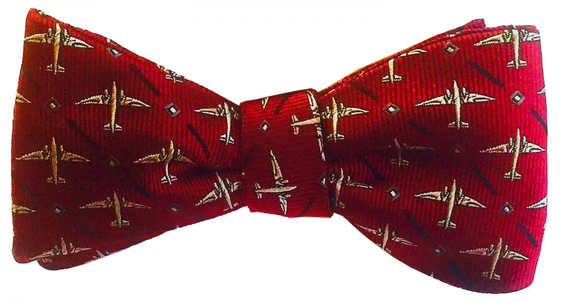 doppeldecker design designer aviation airplane aircraft silk bow tie bowtie dc-3 dc3 c47 c-47