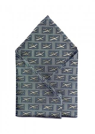 A-10 Thunderbolt pocket square in grey and blue 1