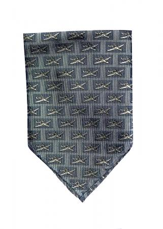 A-10 Thunderbolt pocket square in grey and blue