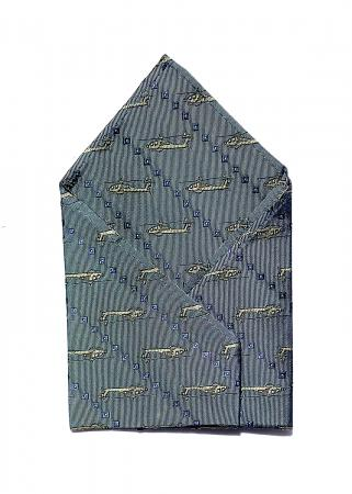 Apache Helicopter pocket square in light blue 1