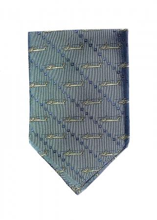Apache Helicopter pocket square in light blue