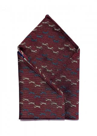 B-17 Flying Fortress pocket square in claret 1
