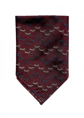 B-17 Flying Fortress pocket square in claret