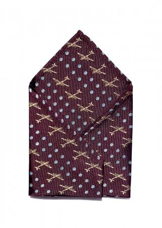 B-29 Superfortress pocket square in aubergine 1
