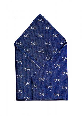 B-47 pocket square in navy 1