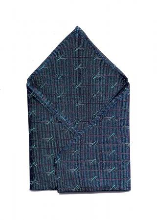 B-52 Stratofortress pocket square in deep teal 1