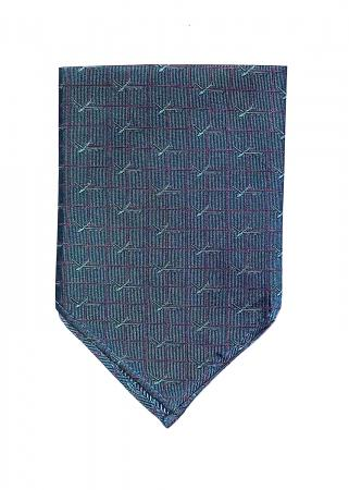 B-52 Stratofortress pocket square in deep teal