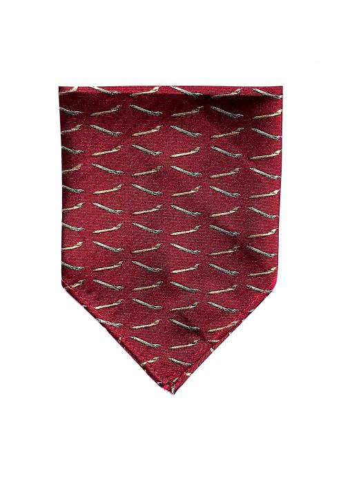 Boeing 727 pocket square in red