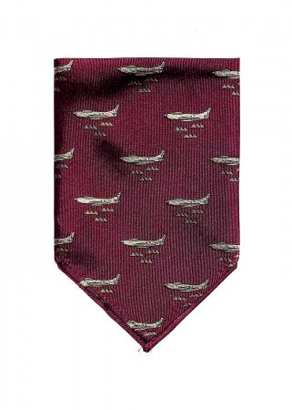 F-86 Sabre pocket square in plum red