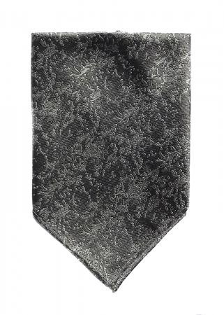 Arctic Drift pocket square in grey