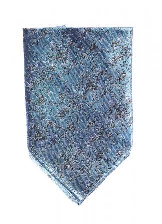 Arctic Drift pocket square in arctic blue