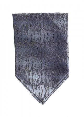 Winter Twig pocket square in Parisian blue and espresso