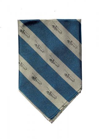 UH-1 helicopter pocket square in deep teal and sand