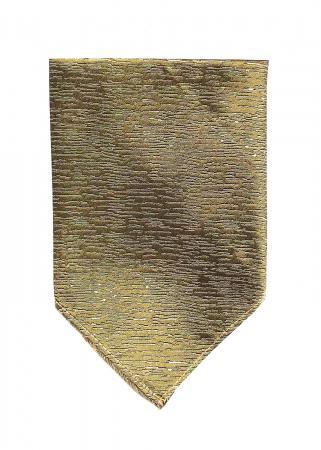 Atlantic Midnight pocket square in gold