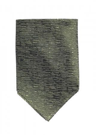 Atlantic Midnight pocket square in moss green