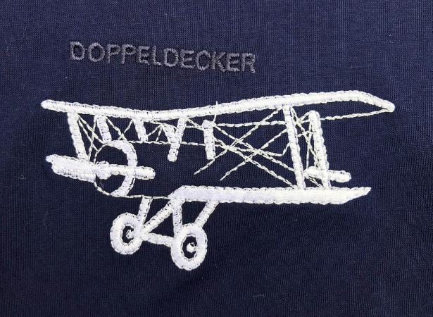 Biplane t-shirt in navy 1
