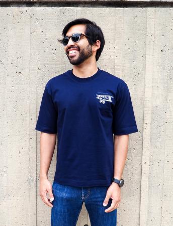 Biplane t-shirt in navy 2