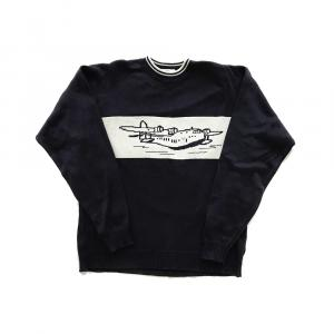 Clipper Flying Boat sweater in navy 1