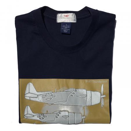 P-47 Thunderbolt t-shirt in navy